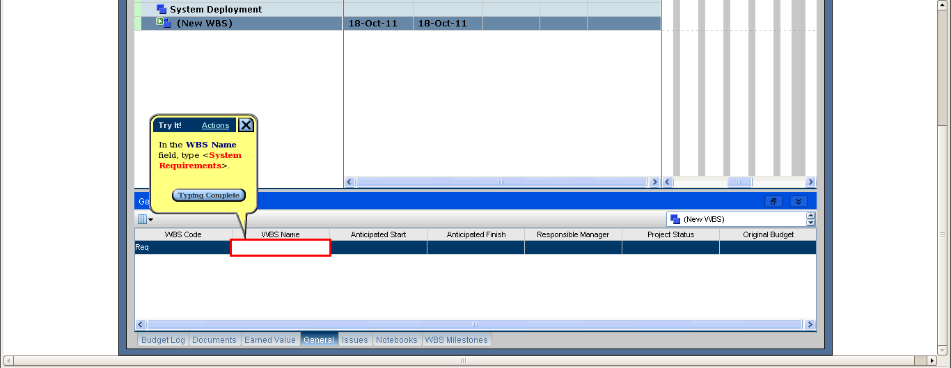 how to create a new project in primavera p6